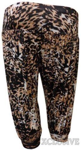 Femme plus taille 3//4 ali baba harem pantalon imprimé courtes hareem pantalon 12-26