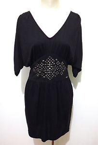 Rayon 42 Donna Vestito Woman Los Viscosa Détails Guess Dress Sz Sur s Angeles Abito TFJclK31