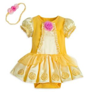 6a9aee759 Disney Store Belle Baby Costume Bodysuit 3-6 Months BNWT Beauty And ...