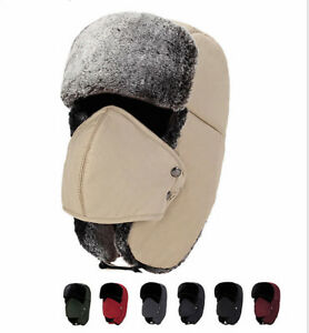 a5211fad6f7477 Men Women Hats Unisex Warm Trapper Aviator Trooper Ear flap Winter ...