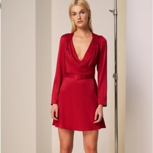 THE-FIFTH-LABEL-LOTTI-LONG-SLEEVE-DRESS-RED-SIZE-SMALL-NWT