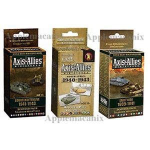 Axis-amp-Allies-Miniatures-3-Booster-Packs-Early-War-Counteroffensive-North-Africa