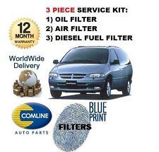 Para Chrysler Grand Voyager 2,5 dt 1997-2000 Kit De Filtro De Aceite Aire Filtros De Combustible Kit