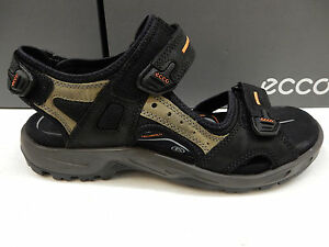 29fb5b15d Image is loading ECCO-MENS-SANDALS-YUCATAN-BLACK-SIZE-EU-47