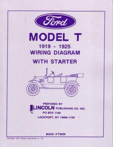 OEM Repair Maintenance Wiring Schematics Bound for Ford Model T 1919-1925