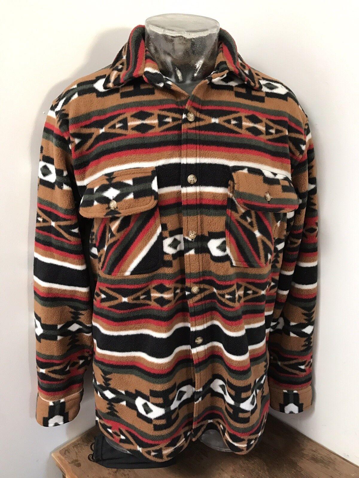 Herren Large VINTAGE SCANDIA WOODS Tribal Navajo Aztec Style Pattern