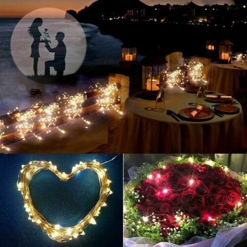 10M 20M Solar LED String Lights Outdoor Waterproof Fairy Party Christmas Decor E
