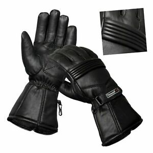 Mens-Genuine-Leather-Motorcycle-Gloves-Motorbike-Riding-Glove-Thermal-Lining