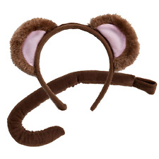 Adult / Child Monkey Ears and Tail Set Fancy Dress Headband Costume Accessory