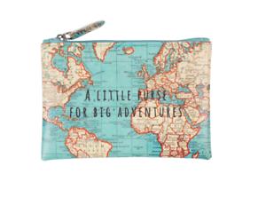 Sass-amp-Belle-Vintage-World-Map-Little-Purse-For-Big-Adventures-Money-Coin-Holder