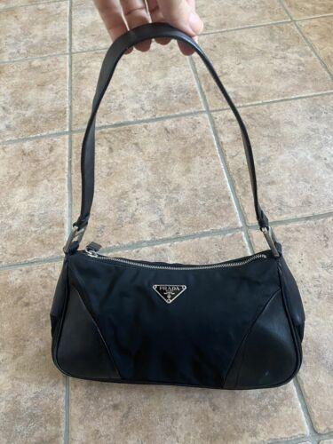 RARE VINTAGE PRADA Nylon and Leather Black Small S