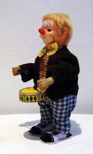 Clown mit Trommel, Uhrwerk voll funktionsfähig, Made in Japan 1950er J., selten.