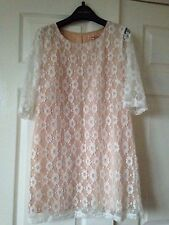 BNWT Traffic People Asos Size M 10 Floral Pink Lace Short Tunic Dress