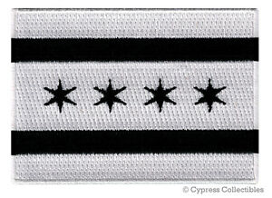 CHICAGO CITY FLAG embroidered iron-on PATCH EMBLEM new ILLINOIS COOK COUNTY new