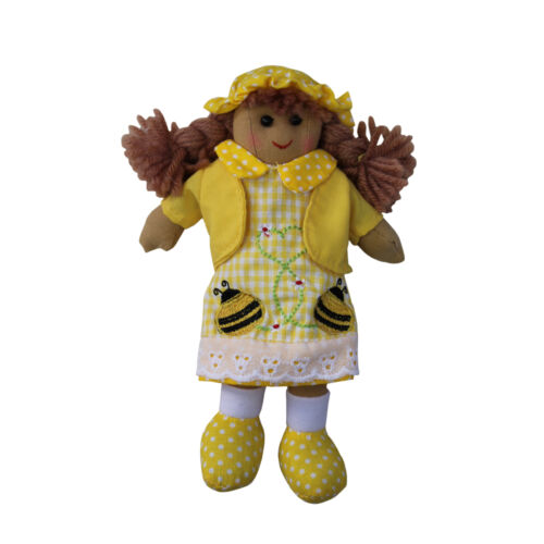 Bumble Bee Rag Doll - Handmade - Powell Craft - Medium 20cms or Large 40cms