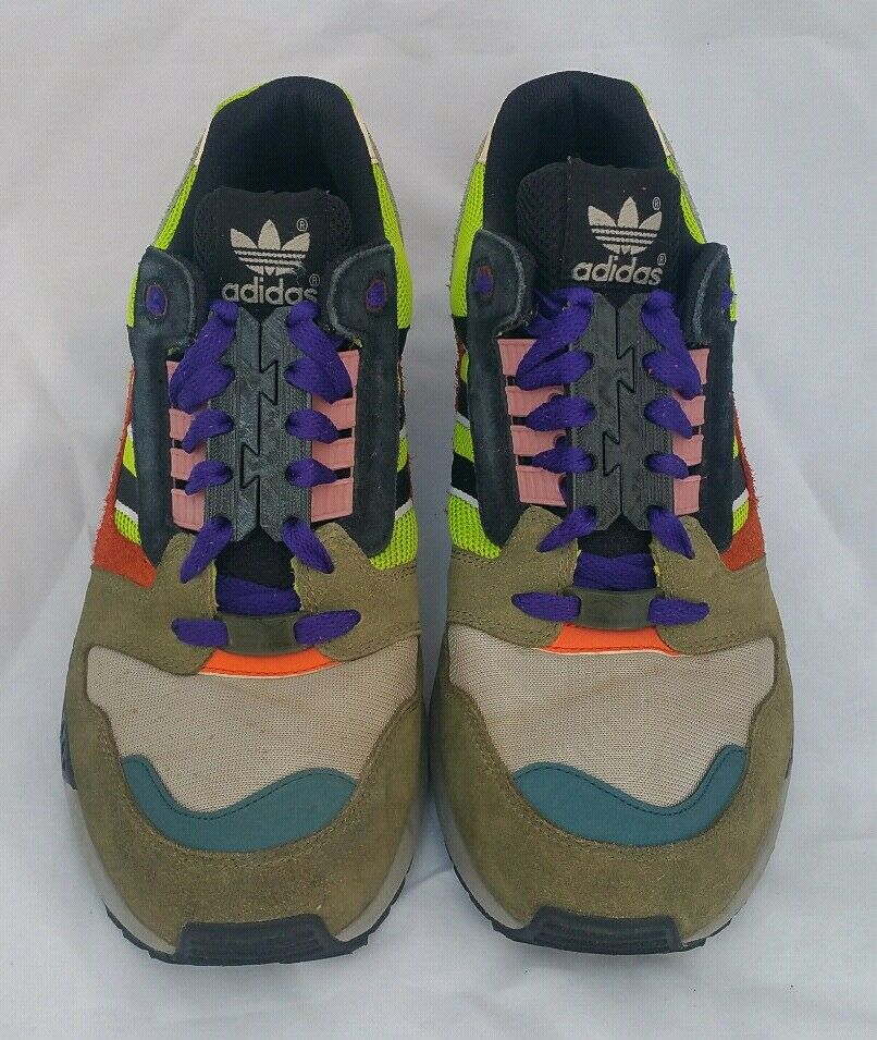 Adidas ZX Cross 8000 Semi Solar Slime Core Black Running Cross ZX Training Retro Shoes 48176d