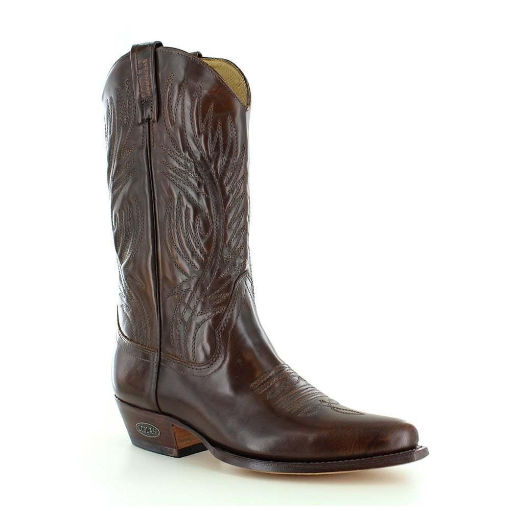 554ef3a0bbf Loblan 194 Marrón Cuero Whisky botas de vaquero hecho a mano clásico para  mujers Western