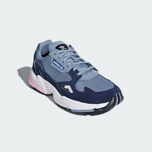 Adidas D96699 Falcon Running Running Running shoes bluee grey pink sneakers 3819ba