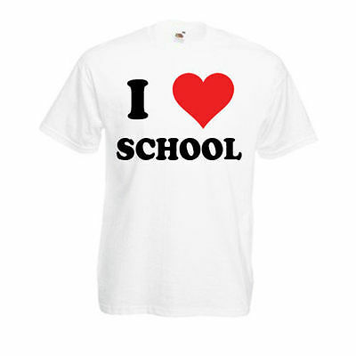Flight Tracker Personalised I Love School T-shirt Mens Ladies Womens Funny Novelty Gift Top Erfrischung