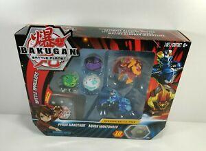 Bakugan Battle Pack Pyrus Maxotaur Aquos Mantonoid Set Battle Brawlers New