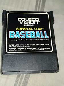 SUPER ACTION BASEBALL Vintage Used ColecoVision Game Cartridge Untested