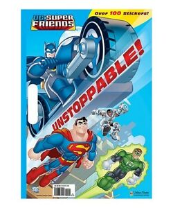 Image Is Loading Unstoppable DC Super Friends Giant Coloring Book With