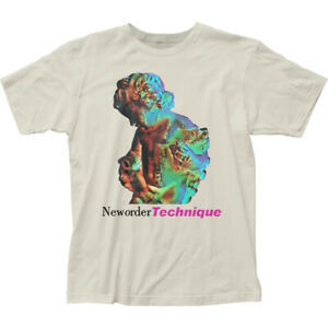 New-Order-Technique-T-Shirt-Mens-Licensed-Rock-N-Roll-Band-Retro-Vintage-White