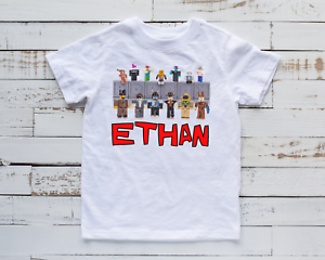 Personalised Kids Roblox T-Shirt Children's Funny Gaming Unisex Top Gift Idea