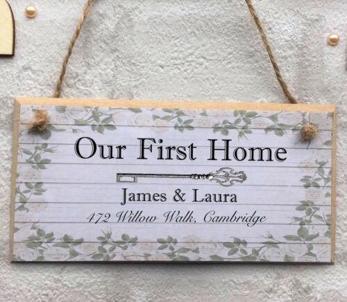 Personalised new home house warming Plaque Sign Gift Keepsake First Home
