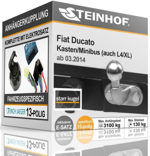 Anhängerkupplung starr FIAT DUCATO Kasten BUS ab 2014+E-SATZ 13p SPEZIFISCH