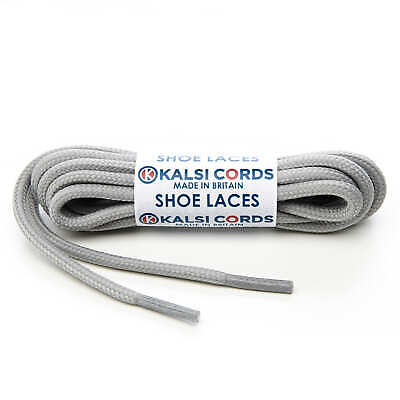 BLACK ROUND CORD SHOE LACES STRONG THICK ROPE LACE 1 PAIR FOR SPORT TRAINER BOOT