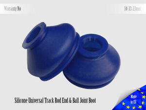 2-X-UNIVERSAL-Dust-Boot-Silicone-14-33-23-Track-Rod-End-and-Ball-Joint-Boot-Blue