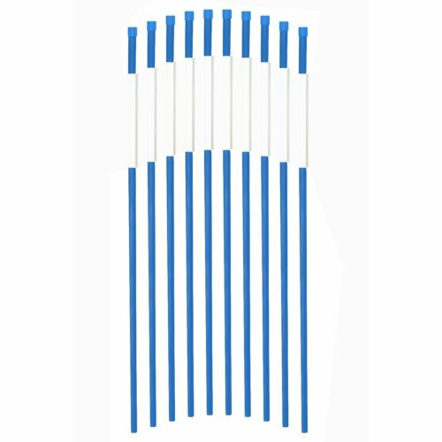 Blue 50-Pack Driveway Markers Snow Plow Stakes Hi Visibility Driveway Poles 4ft