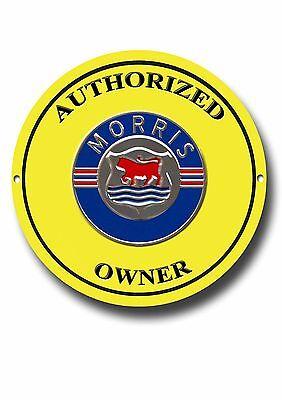 MORRIS CARS (AUTHORIZED OWNER ENAMELLED METAL SIGN).VINTAGE BRITISH CARS.