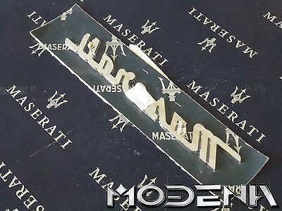 Maserati Emblem Schriftzug Scritta Metall Chrom Badge Mark QP Evoluzione Evo