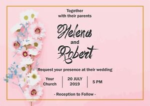 Details About 14 Personalised Handmade Wedding Invitations Day Evening Invite Cards Design 16