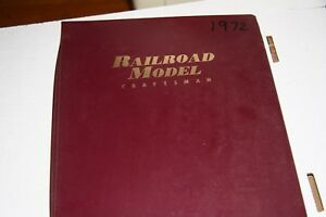 RAILROAD-MODEL-CRAFT-MAGAZINE-FULL-YEAR-1972-IN-BINDER-MOST-ISSUES-IN-GOOD-SHAPE