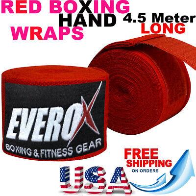 """Vali Boxing Hand Wraps inner gloves 180/"""" Elastic MMA Muay Thai Bandage Pair"""