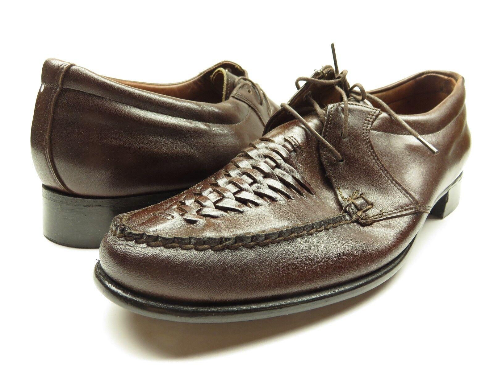 spedizione veloce a te NEW Stuart McGuire Moccasin Oxford Casual Casual Casual Dress scarpe Marrone Sz.4100  vendita con alto sconto