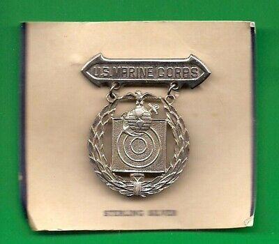 Genuine Vintage U.S.M.C Marksman Badge Shield Metal badge Marine Corps Obsolete