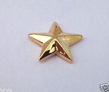 US ARMY RANK BRIGADIER GENERAL O7 SMALL GOLD Military Veteran Hat Pin 15735 HO