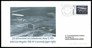 SPAIN-PRIVAT-MARKE-ZEPPELIN-LZ-129-CUSTOM-STAMP-ONLY-1-COVER-MADE-cg22