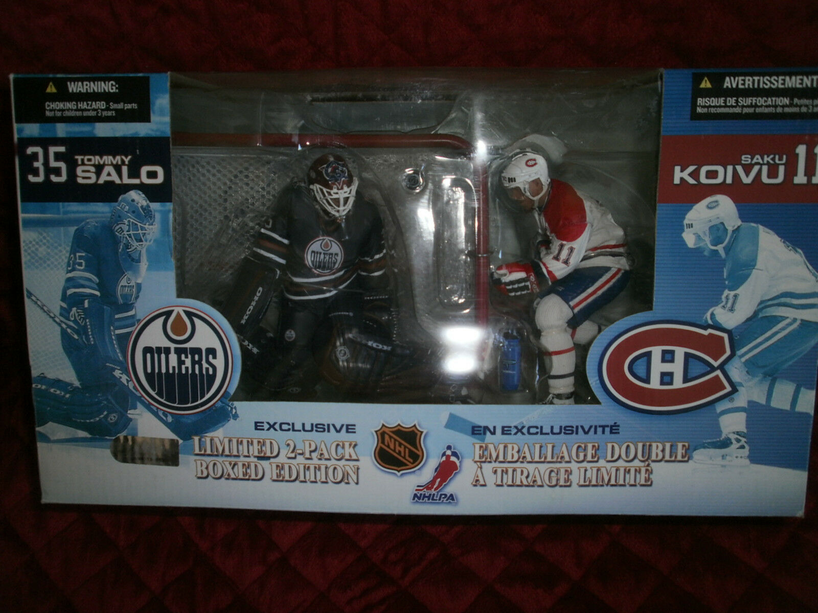 McFARLANE GOALIE TOMMY SALO NHL SAKU KOIVU BOXED  EXCLUSIVE