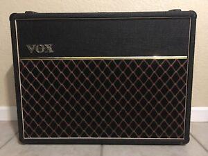 VINTAGE-1990-Vox-AC30-6TB-034-grey-panel-034-2x12-tube-combo-amp-amplifier-EXCELLENT