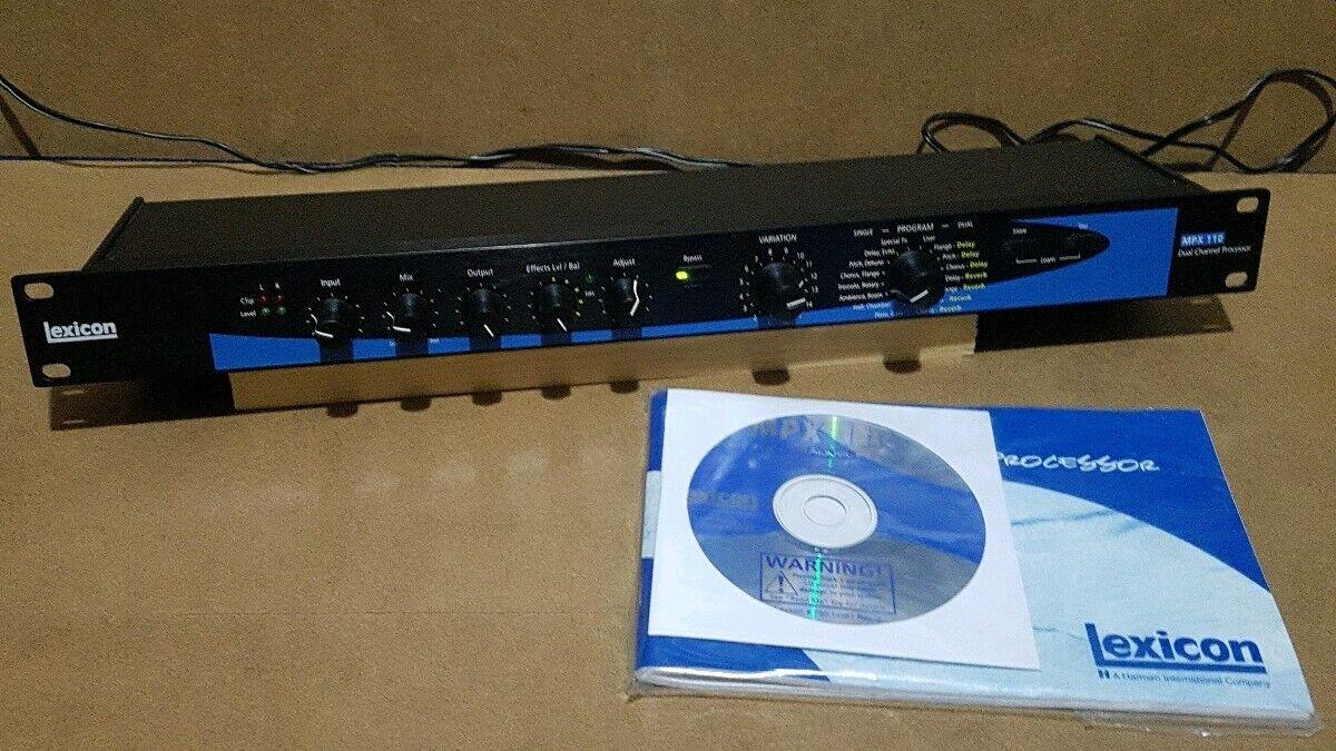 Lexicon MPX110 24-Bit Dual-Channel Fx Processor, 240 Presets