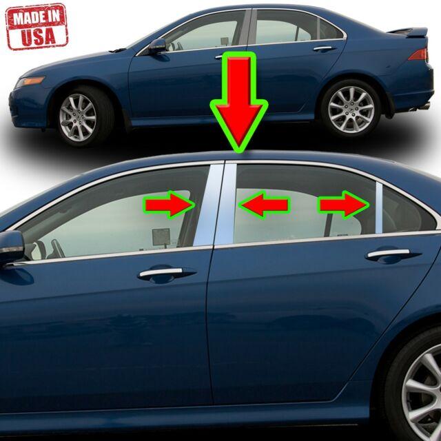 Chrome Pillar Trim For Acura TSX 04-08 6pc Set Door Cover