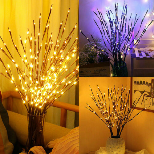 LED Branch Twig Lights Light Up Willow Branches Battery Powered Christmas Decor