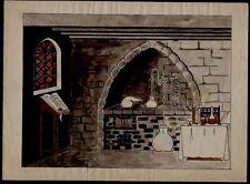 AQUARELLE . Chez l'alchimiste, ancienne.  Aq952