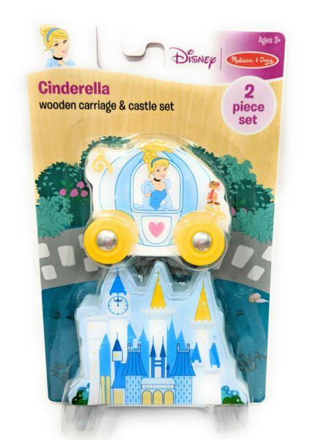 Melissa & Doug Disney CINDERELLA Wooden Carriage and Castle 2 Piece Set #07687