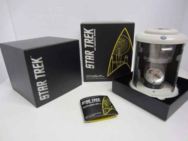 2015 Star Trek Captain James T. Kirk U.S.S. Enterprise 1oz Silver 2 Coin Set